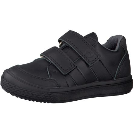 Ricosta ETHAN Leather Velcro School Trainer Shoe (Black)